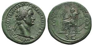 Domitian (81-96). Æ Sestertius (36mm, ...