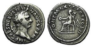 Trajan (98-117). AR Denarius (20mm, 3.19g, ...