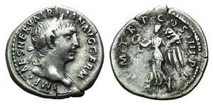 Trajan (98-117). AR Denarius (19mm, 3.05g, ...