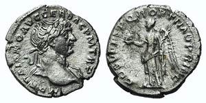Trajan (98-117). AR Denarius (18mm, 2.91g, ...