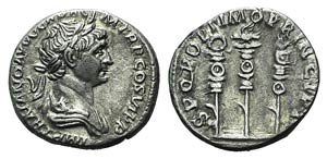 Trajan (98-117). AR Denarius (18mm, 2.84g, ...