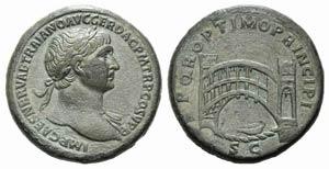 Trajan (98-117). Æ Sestertius (34mm, ...