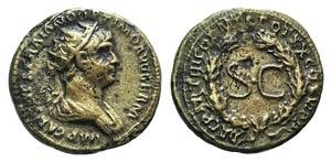 Trajan (98-117). Æ Dupondius (18mm, 4.30g, ...