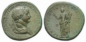 Trajan (98-117). Æ Sestertius (35mm, ...