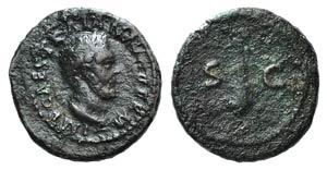 Trajan (98-117). Æ Quadrans (15mm, 2.45g, ...