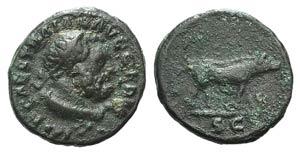 Trajan (98-117). Æ Quadrans (14mm, 2.18g, ...