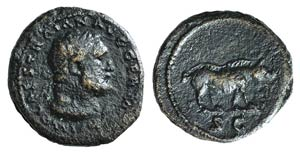 Trajan (98-117). Æ Quadrans (16mm, 2.62g, ...