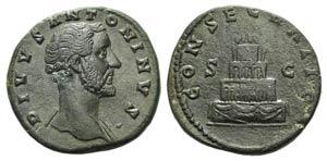 Divus Antoninus Pius (died 161). Æ ...