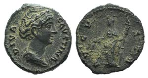 Diva Faustina Senior (died 140/1). Fourrèe ...