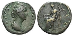 Diva Faustina Senior (died AD 140/1). Æ ...