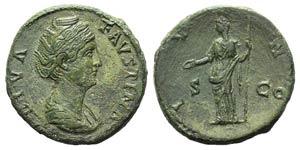 Diva Faustina Senior (died 141). Æ ...