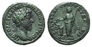 Marcus Aurelius (161-180). Æ As (26mm, ...