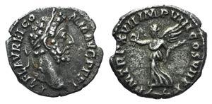 Commodus (177-192). AR Denarius (16mm, ...