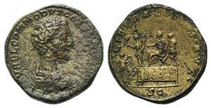 Commodus (Caesar, 166-177). Æ Sestertius ...