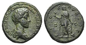 Commodus (Caesar, 166-177). Æ As (26mm, ...