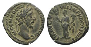 Commodus (177-192). Fourrèe Denarius (18mm, ...