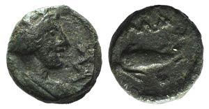 Gaul, Massalia, c. 1st century BC. Æ (9mm, ...