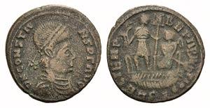 Barbarous Æ, imitating Constans, c. 4th ...