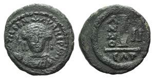 Maurice Tiberius (582-602). Æ 10 Nummi ...