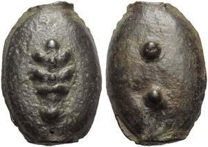 Umbria, Tuder (?), Cast Sextans, 3rd century ...