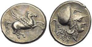 Akarnania, Echinos, Stater, post 344 BC; AR ...