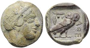 Attica, Athens, Tetradrachm, c. 475-465 BC; ...