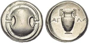 Boeotia, Thebes, Stater struck in the name ...