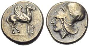 Corinthia, Corinth, Stater, c. 405-345 BC; ...