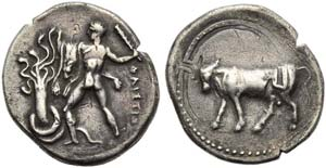 Crete, Phaistos, Stater, c. 280 BC; AR (g ...
