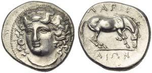 Thessaly, Larissa, Drachm, c. 356-342 BC; AR ...