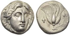 Caria, Rhodes, Didrachm, c. 400-333 BC; AR ...