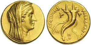 Ptolemaic kings of Egypt, Arsinoe II, wife ...