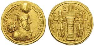 Sasanian kings, Vahran II (276-293), Dinar, ...