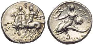 Apulia, Tarentum, Nomos, c. 280-272 BC; AR ...
