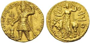 India, Kushan Empire, Vasudeva I (190-230), ...