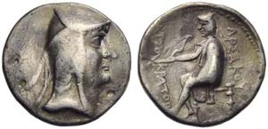 Arsaces I (238-211), Drachm, Nisa (?), c. ...