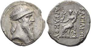 Artabanus II (127-126), Tetradrachm, ...