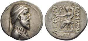 Artabanus III (126-122), Tetradrachm, ...