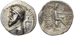 Artabanus III (126-122), Drachm, Ekbatana, ...