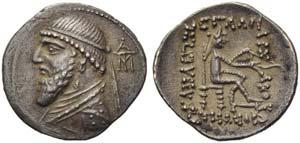 Mithradates II (123-88), Drachm, Ekbatana, ...
