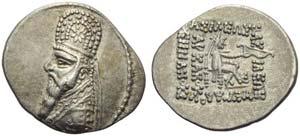 Mithradates II (123-88), Drachm, Rhagae, c. ...