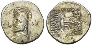 Sinatruces (75), Drachm, Rhagae, 75 BC; AR ...