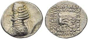 Orodes II (57-38), Drachm, Traxiane, c. ...
