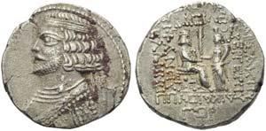 Phraates IV (38-2), Tetradrachm, Seleukeia ...