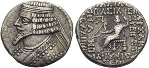 Tiridates (29-27), Tetradrachm, Seleukeia on ...