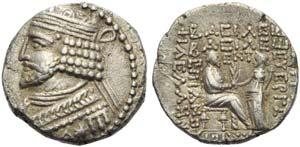 Vardanes I (40-45), Tetradrachm, Seleukeia ...