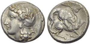 Lucania, Velia, Didrachm, c. 440-400 BC; AR ...