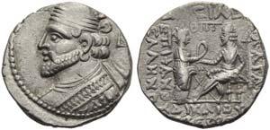 Vologases I (51-78), Tetradrachm, Seleukeia ...