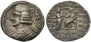 Pacorus II (78-105), Tetradrachm, Seleukeia ...