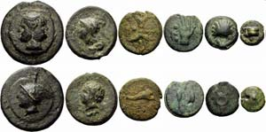 Box set of a complete cast bronze series, ...